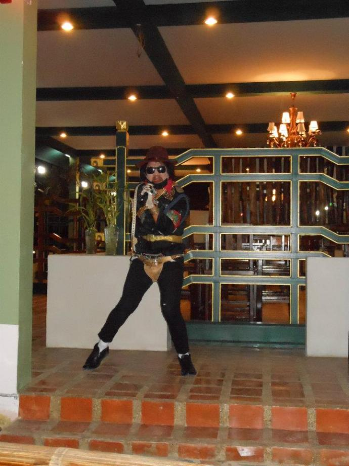 Meeting the best MJ impersonator in the world on the Thailand/Laos border