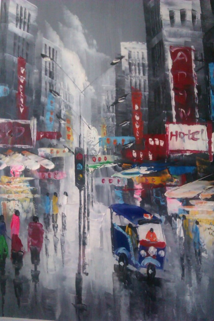 A painting of Khao San road I picked up in Bangkok