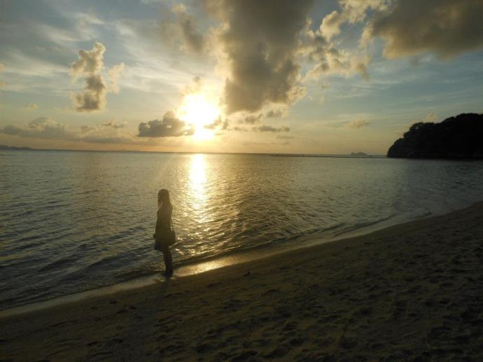 The sunset on our private beach in Koh Phangan