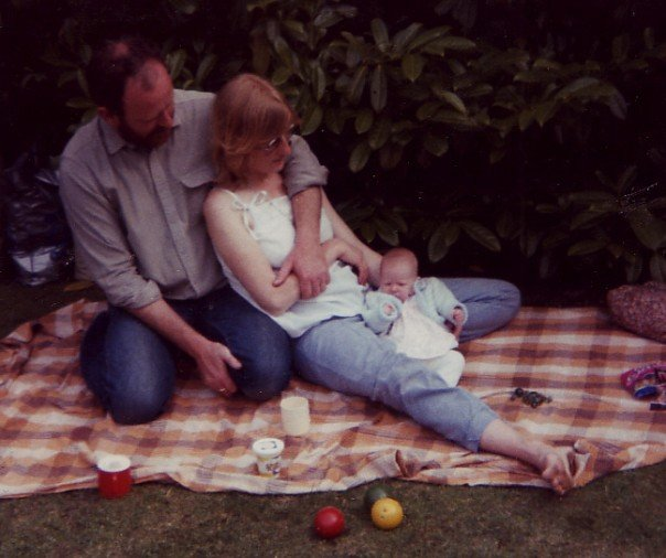 Mum, dad and I. One of my favourite pictures.