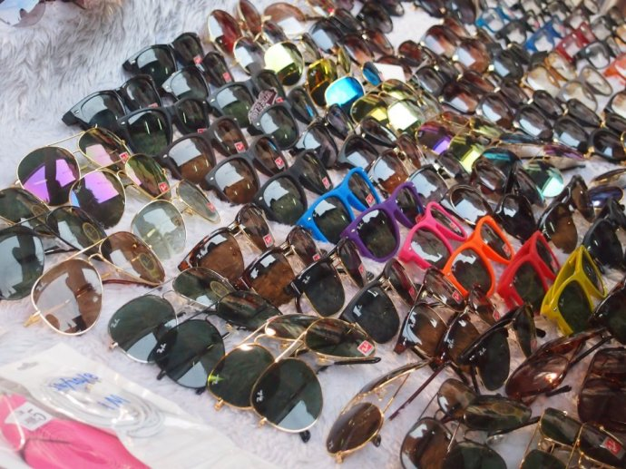 Fake ray bans for 200 baht (£4)