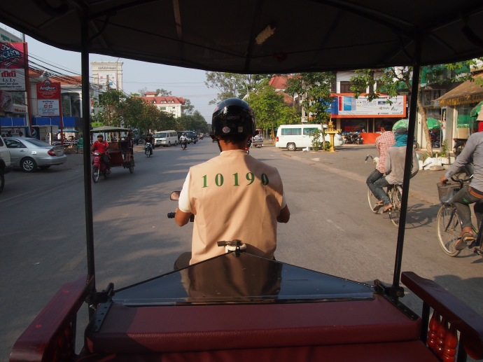 our tuk tuk driver. I took a lot of pictures of Siem Reap in the day but not before I realised there was no memory card in my camera...oops