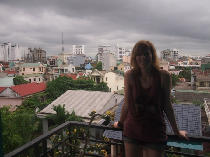 view of Hue roof tops (and an example of the weather)
